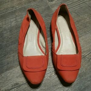 Elizabeth &James  orange Kimi ballet flats